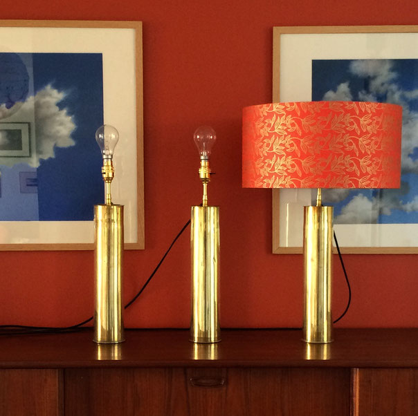 lampe vintage, lampe laiton, upcycling