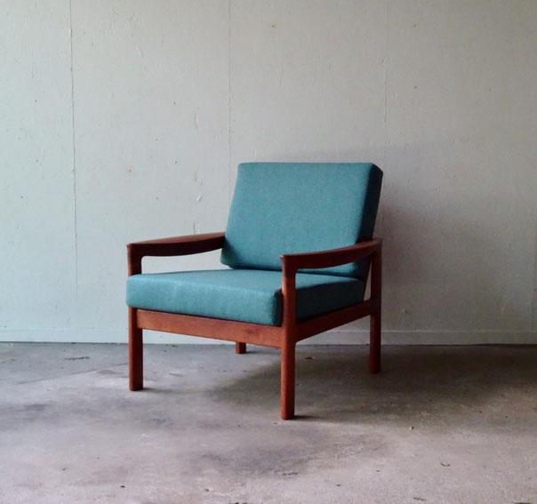 fauteuil danois, fauteuil Komfort, fauteuil teck vintage