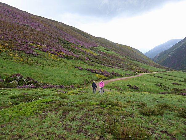 Landschaft auf der Südseite der Kantabrischen Kordillere