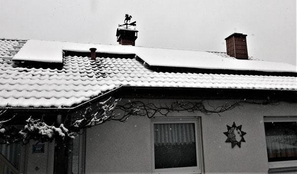 Leben mit der Energiewende TV - Schnee auf Photovoltaikanlage in Rehborn