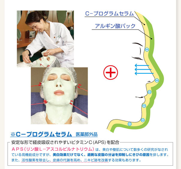 """安定型ビタミンC""""リン酸L─アスコルビルナトリウム(APS)""""は、美白や整肌について数多くの研究がなされている高機能成分です。その中でメラニンの生成を抑えシミ・ソバカスを防ぐ美白効果は、医薬部外品の効能・効果として公的に認められています。"""
