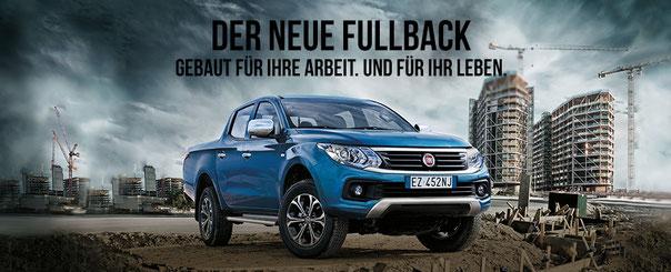 Gebaut für Ihre Arbeit und für Ihr Leben  - der neue FIAT Fullback beim Strasser Transport & Business Center in Stephanskirchen bei Rosenheim