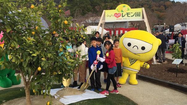 地元、志段味東小学校の皆さんが記念植樹に来てくださいました!柴ちゃんの後輩です!