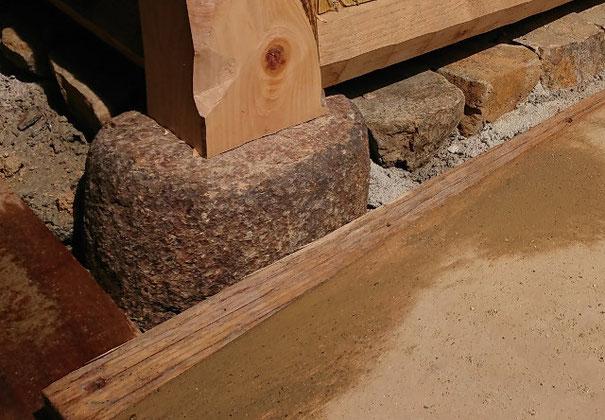 根石、差し石、造園工事