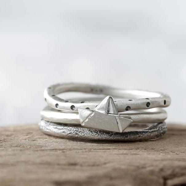 Ringe aus Silber, Stapelringe, Dirk Heilig, Nürnberg, Schmuck, Design