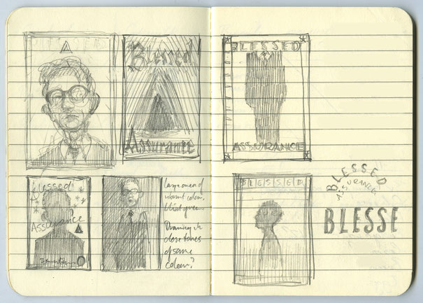 Early cover concepts – spread from notebook