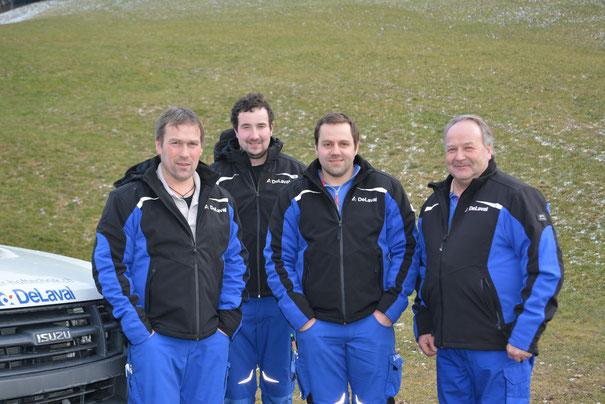 Bänz Gerber, Tobias Bärtschi, Bruno Röthlisberger, Bernhard Mühlethaler (auf dem Bild fehlt: Fritz Schär)