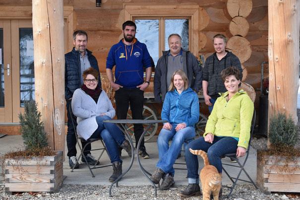 Bänz und Dorothea Gerber, Stefan Dahinden, Bernhard Mühlethaler, Sandra Schär, John Baumann, Veronika Aeschlimann (auf dem Bild fehlt: Tobias Bärtschi)