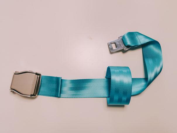 Loop-Belt im Flugzeug