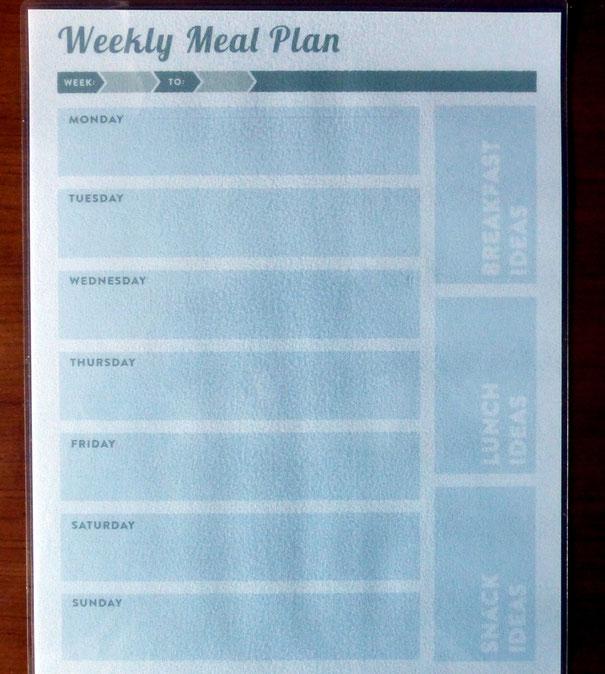 Fabrica tu propio calendario semanal para planificar tus menús - AorganiZarte
