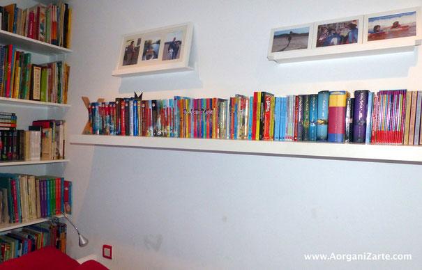 Las estanterías de libros ordenadas dan producen más calma y relax - AorganiZarte