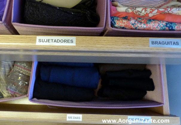 Pon etiquetas en los cajones cuando guardes la ropa interior - AorganiZarte