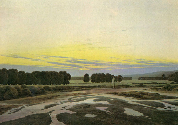 """""""Das große Gehege"""" von Casper David Friedrich. (05.09.1774 - 07.05.1840; Neue Meister)."""