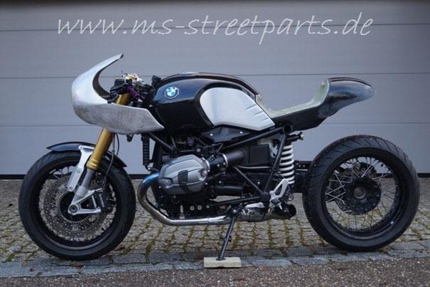BMW R nineT Umbau mit Halbschale Alu