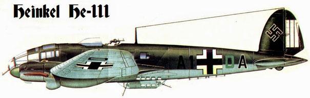 Un Heinkell He-111 impiegato durante i bombardamenti su Rotterdam.
