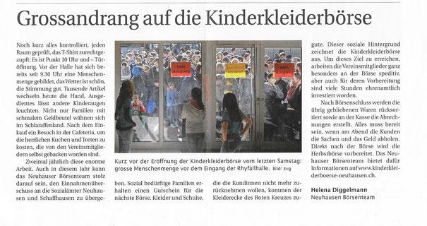 45. Börse - Grossandrang vor der Türöffnung - Neuhauser WOCHE 16.03.2017