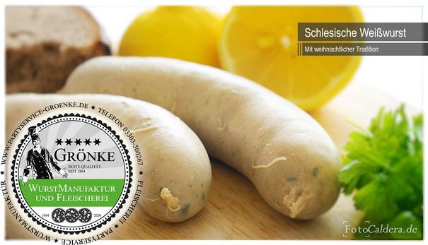 Schlesische Weißwurst zu Weihnachten von Fleischermeister Martin Grönke