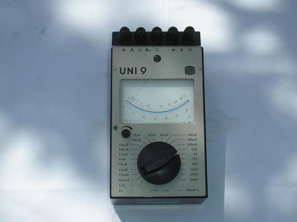 MTM Messtechnik Mellenbach DDR  Multimeter Typ. UNI  9 von 1976