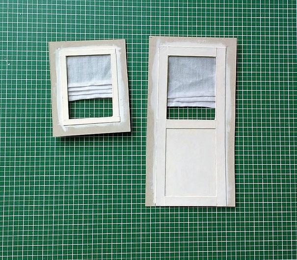 Miniatur-Tür und Fenster