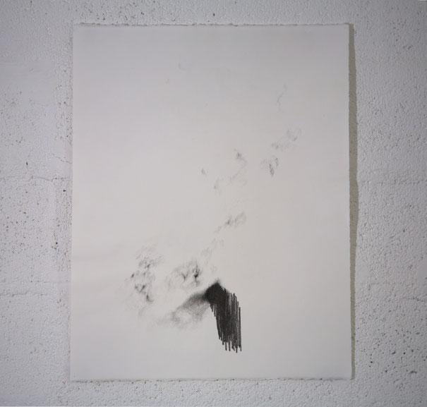 """""""Sublime funambule"""", dessin, graphite sur BFK Rives travaillé, 50,5x65,5 cm, 2020"""