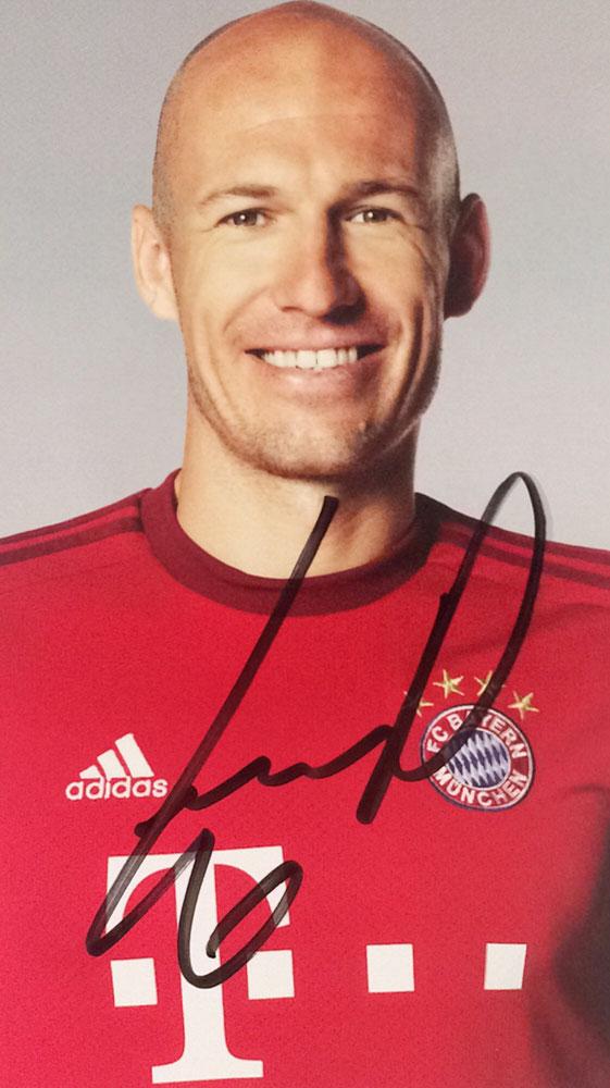 Arjen Roben Autograph Autogramm