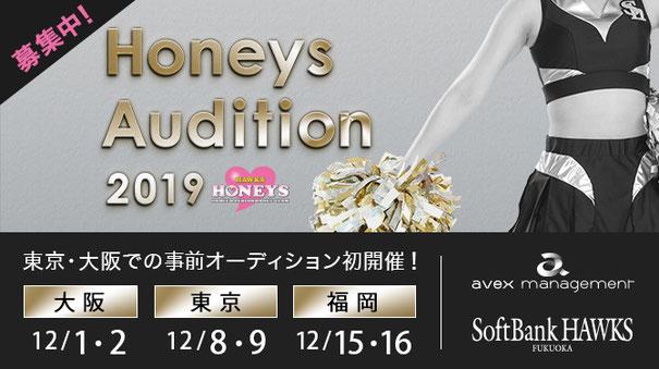 プロ野球 福岡ソフトバンクホークス ホークスオフィシャルダンス&パフォーマンスチーム 「ハニーズ」2019年度メンバーオーディション