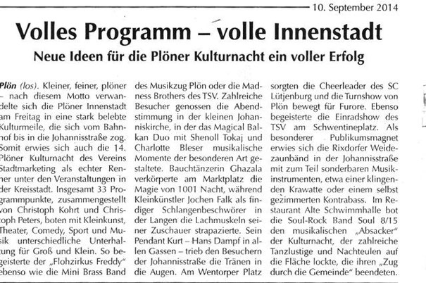 Pressetext im Reporter am 10. September 2014