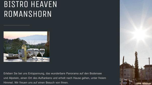...mit einem Klick ins Bistro Heaven Romanshorn