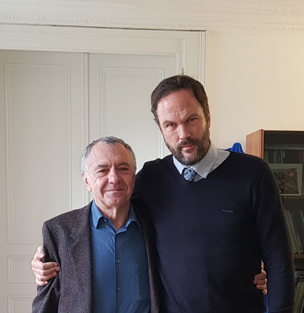With Gilles Lipovetsky, 2018