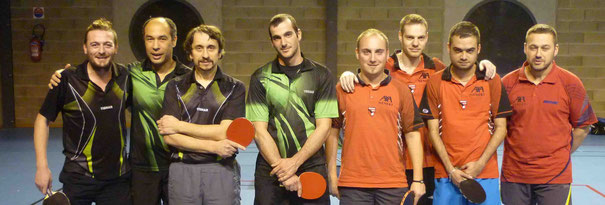 D2-4 contre Bellac : Matthieu G, Bruno D, Quentin I, et Laurent L.