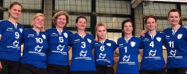 Damenmannschaft GSBV Halle mit 2 Damen von GSV Chemnitz