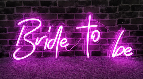 letrero neon flex para despedida de soltera