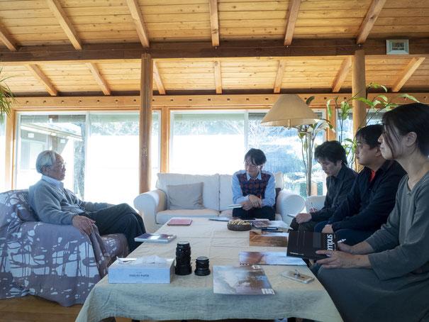 山田邸でのインタビュー風景