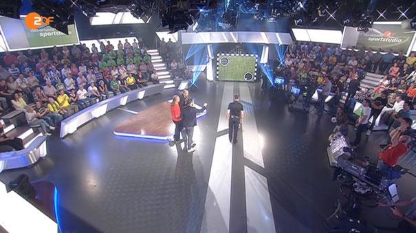 """Borussenfohlen besuchen """"das aktuelle sportstudio"""" in Mainz am 09. und 16.08.2014, Moderator: Sven Voss"""