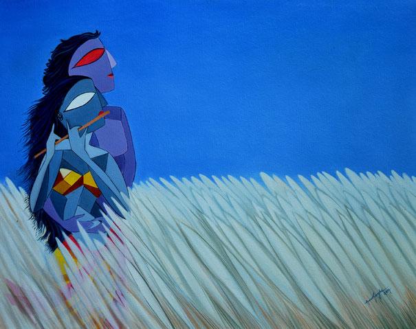 pancham_raag-with_ragini_devkeri_oil_painting_amar_singha