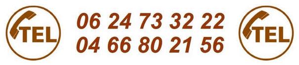Coordonnées téléphoniques du peintre Clarensac