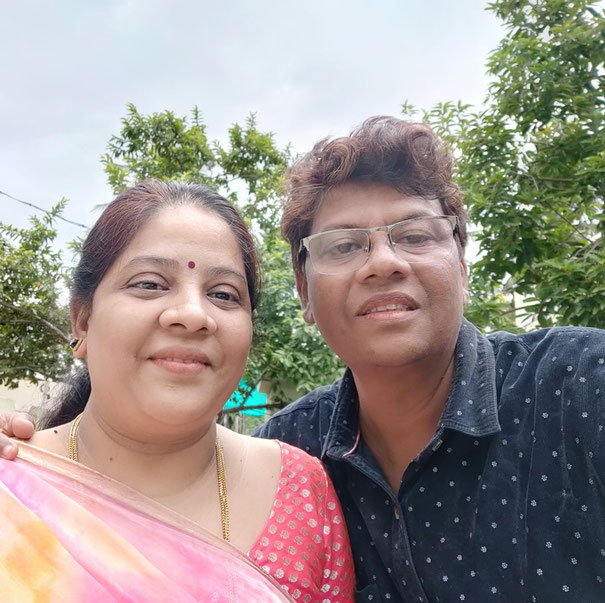 Nagendra Gandhi With his wife Sujatha