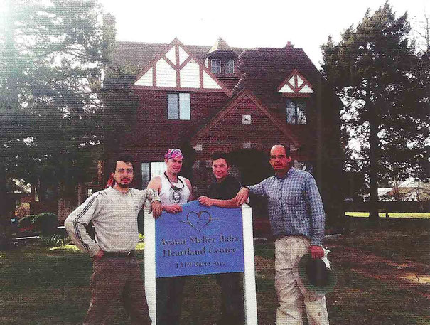 Hearland Center - ( L-R )  Kyle Romeo, Joe Dunn, Charlie Eaton and Peter Nordeen. Work crew on the property  in 2013.