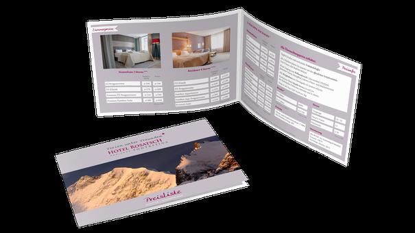 Broschüre Grafikdesign