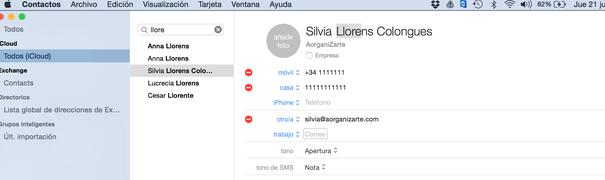 como organizar tus contactos con Mail para Mac - AorganiZarte.com