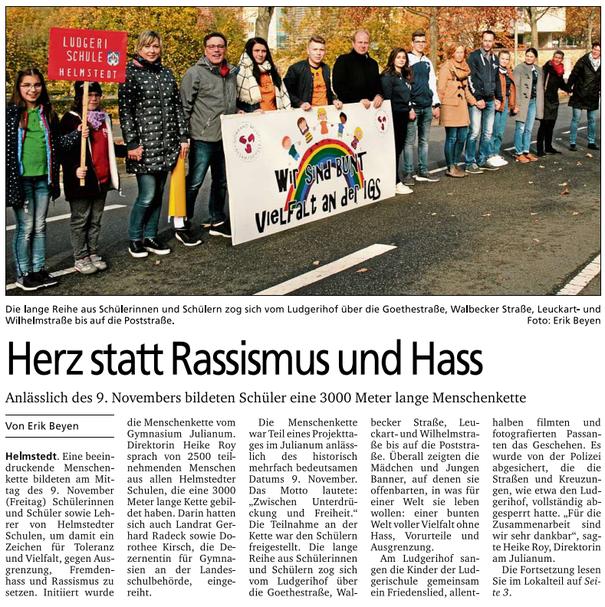 (Quelle: Neue Helmstedter, 14.11.2018 (Nr. 46) - Seite 01 - Foto und Text: Erik Beyen © BZV Medienhaus, 2018)