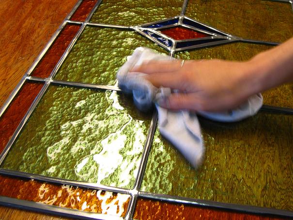 restauratie van glas in lood
