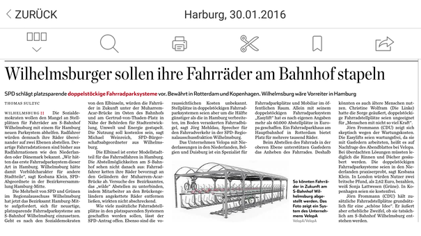 Hamburger Abendblatt 30.01.2016