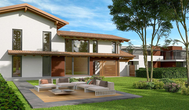 Immagine rendering villa