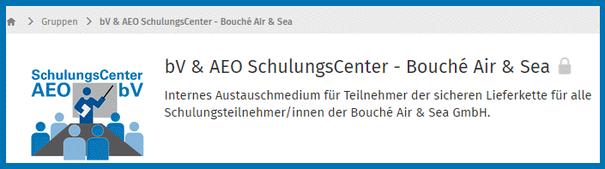 Bild XING FORUM: Internes Austauschmedium für Teilnehmer der sicheren Lieferkette für alle Schulungsteilnehmer der Bouché Air & Sea GmbH |  SchulungsCenter AEO & bV