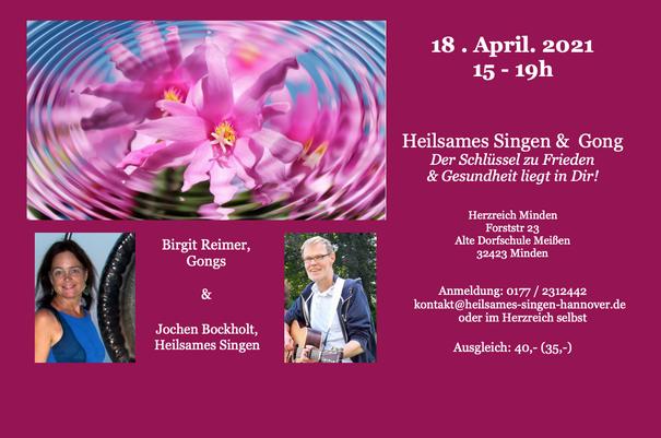 Singen & Gong mit Birgit Reimer und Jochen Bockholt in Minden