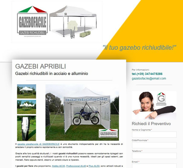pagina Home gazebo facile