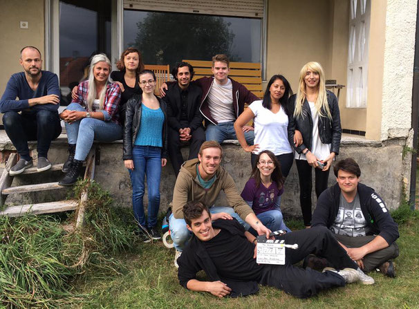 Photo: Cast and crew of The Hacker, united after day 1 has wrapped.