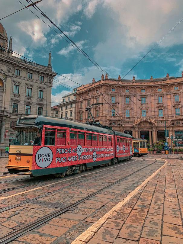 Straßenbahn Mailand Italien