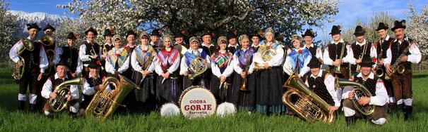 Musikkapelle Godba Gorje in der Nähe von Bled